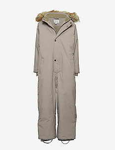 Wanni Faux Fur Snowsuit, K - snowsuit - cloudburst grey