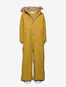 Wanni Faux Fur Snowsuit, K - vinterdress - dried tobacco