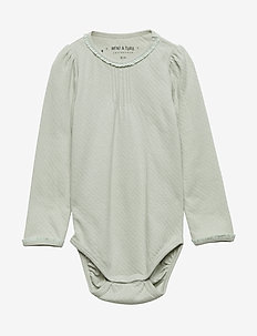 Akeleje Body, B - manches longues - puritan grey
