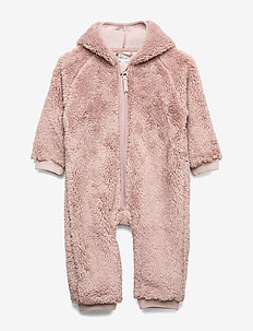 Adel Romper, B - fleece - cloudy rose