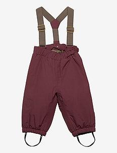 Wilas Suspenders Pants, M - vinterbukser - catawba grape