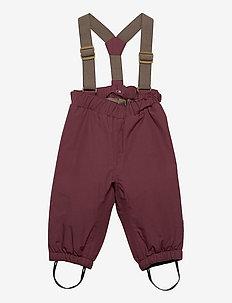 Wilas Suspenders Pants, K - vinterbukser - catawba grape