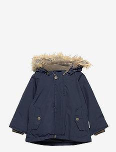 Wally Faux Fur Jacket, M - parkas - blue nights