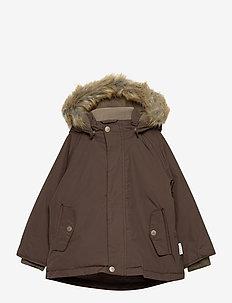 Wally Faux Fur Jacket, M - parkas - dark choco