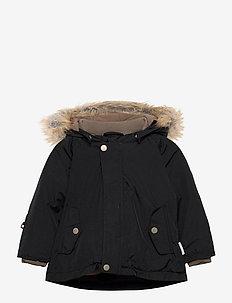 Wally Faux Fur Jacket, M - parkas - tap shoe black