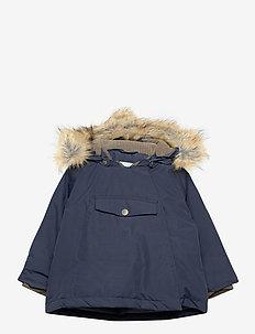Wang Faux Fur Jacket, M - parkas - blue nights
