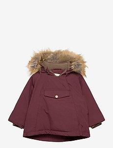Wang Faux Fur Jacket, M - parkas - catawba grape