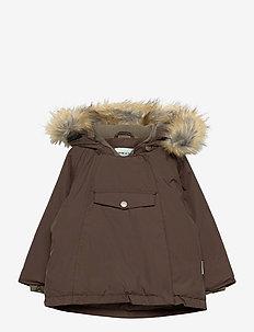 Wang Faux Fur Jacket, M - parkas - dark choco