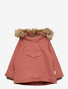 Wang Faux Fur Jacket, M - parkas - withered rose