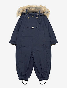Wisti Faux Fur Snowsuit, M - vintertøj - blue nights