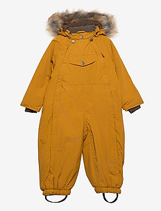 Wisti Faux Fur Snowsuit, M - vinterdress - buckthorn brown