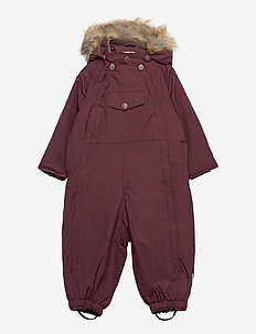 Wisti Faux Fur Snowsuit, M - vintertøj - catawba grape