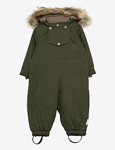 Wisti Faux Fur Snowsuit, M - vinterdress - forest night