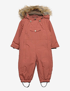 Wisti Faux Fur Snowsuit, M - vinterdress - withered rose
