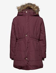 Witta Faux Fur Jacket, K - parkas - catawba grape