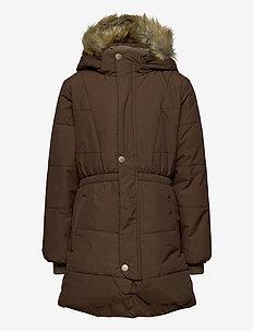 Witta Faux Fur Jacket, K - parkas - dark choco