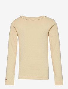 Aje T-shirt GOTS, K - long-sleeved - apricot gelato