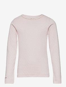 Aje T-shirt GOTS, K - long-sleeved - mauve chalk