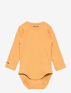 Yomi Body GOTS, B - long-sleeved - honey yellow