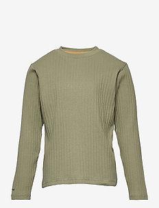 Carl-Emil T-shirt GOTS, K - long-sleeved - oil green