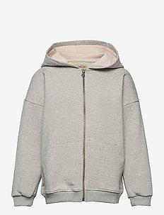 Alfi Zip Hoodie, K - sweatshirts & hoodies - light grey melange