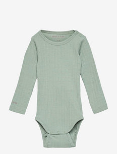 Yomi Body GOTS, B - long-sleeved - chinois green