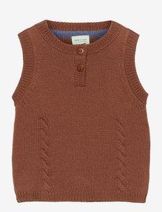 Rikko Vest, B - vests - rootbeer brown
