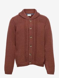 Diron Cardigan, M - cardigans - rootbeer brown