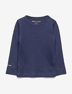 Erion T-shirt, MK - langærmede t-shirts - mood indigo