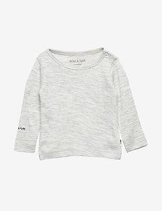 Erion T-shirt, MK - langærmede t-shirts - light grey melange