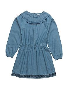 Fransiska, K Dress LS - GRISAILLE BLUE