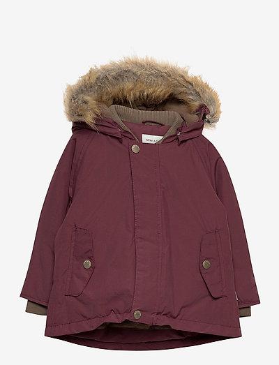 Wally Faux Fur Jacket, M - parkas - catawba grape