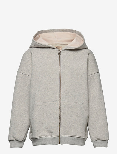 Alfi Zip Hoodie, K - hoodies - light grey melange
