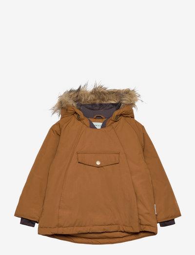 Wang Fake Fur Jacket, M - winter jacket - rubber brown
