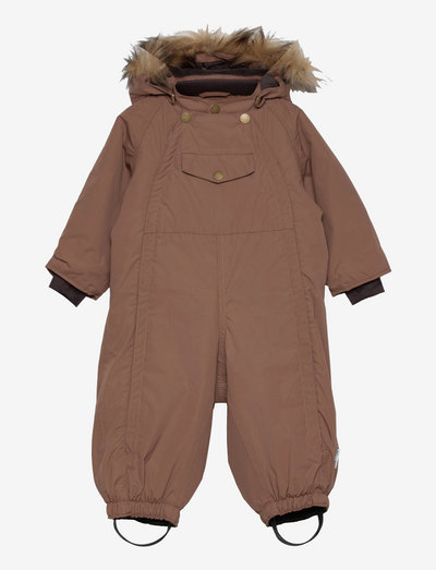 Wisti Fake Fur Suit, M - snowsuit - acorn brown