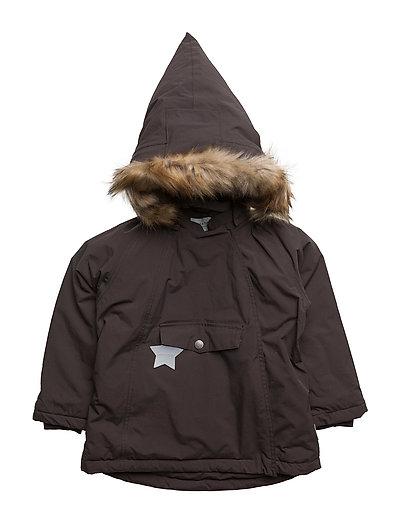 Wang Faux Fur, M Jacket - DARK COFFEE
