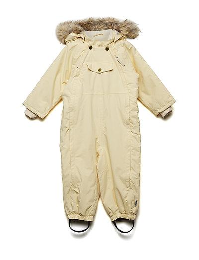 Wisti Faux Fur Snowsuit, M - APRICOT GELATO