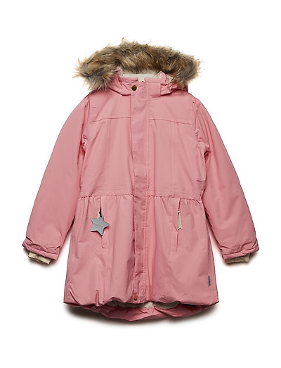 Viola Faux Fur Jacket, K - GERANIUM PINK