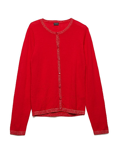 Addy Cardigan, K - CHINESE RED