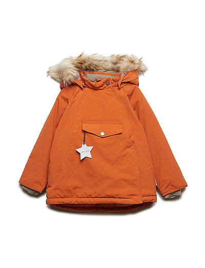 Mini A Ture Wang Fur Jacket Autumnal Brown