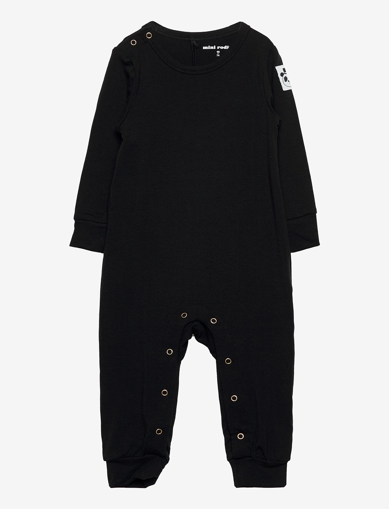 Mini Rodini - Basic jumpsuit - langärmelig - black - 0