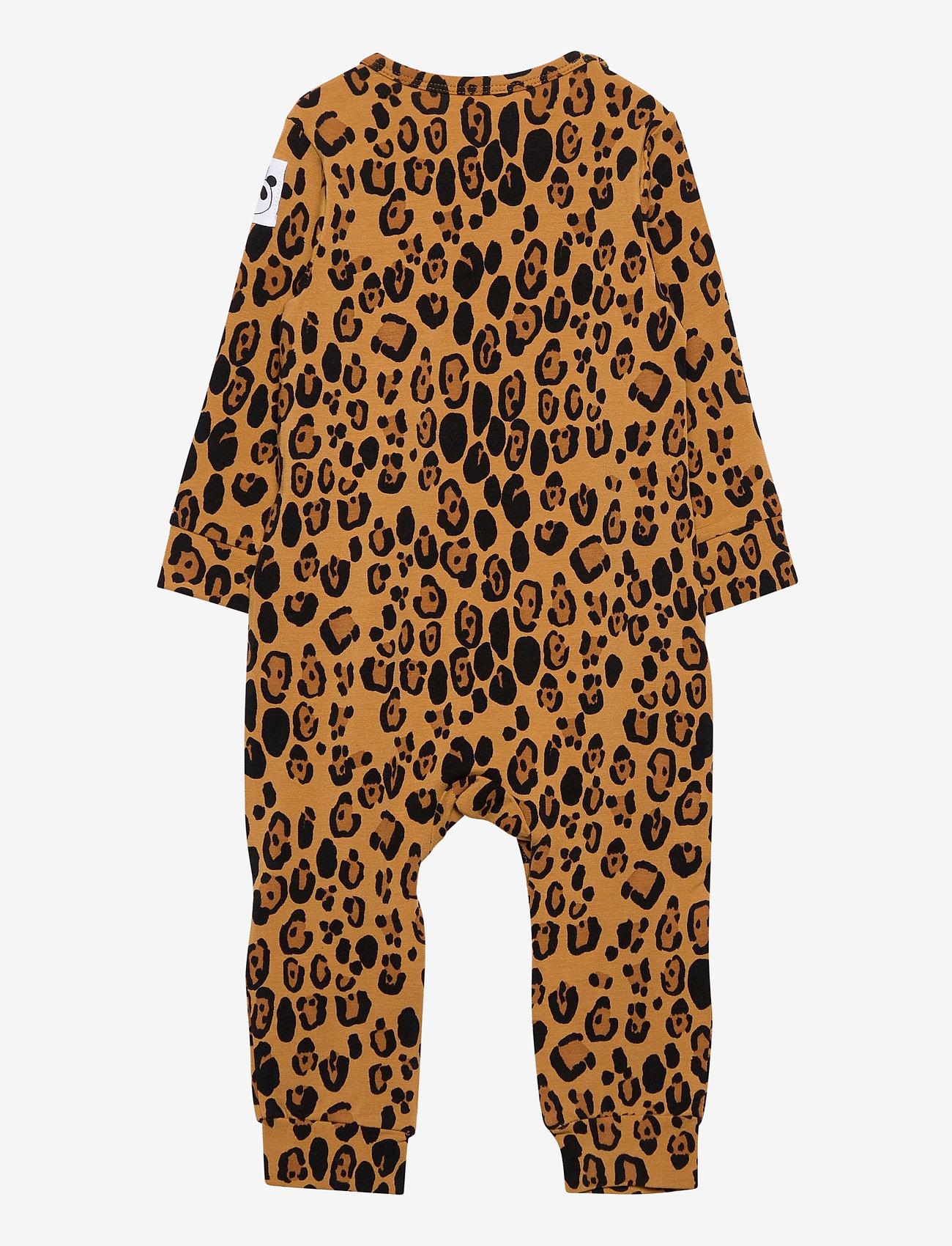 Mini Rodini - Basic leopard jumpsuit - langärmelig - beige - 1