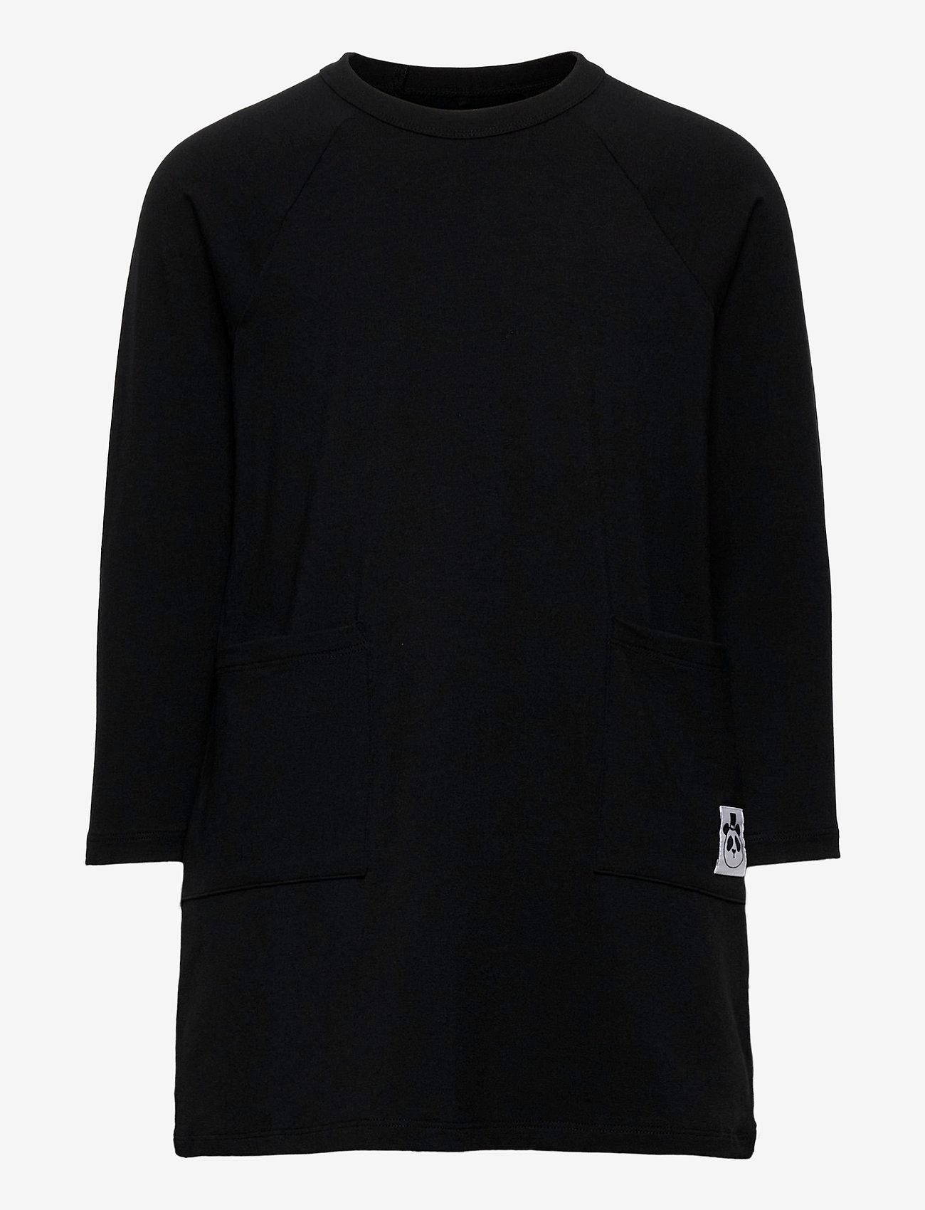 Mini Rodini - Basic ls dress - jurken - black - 0