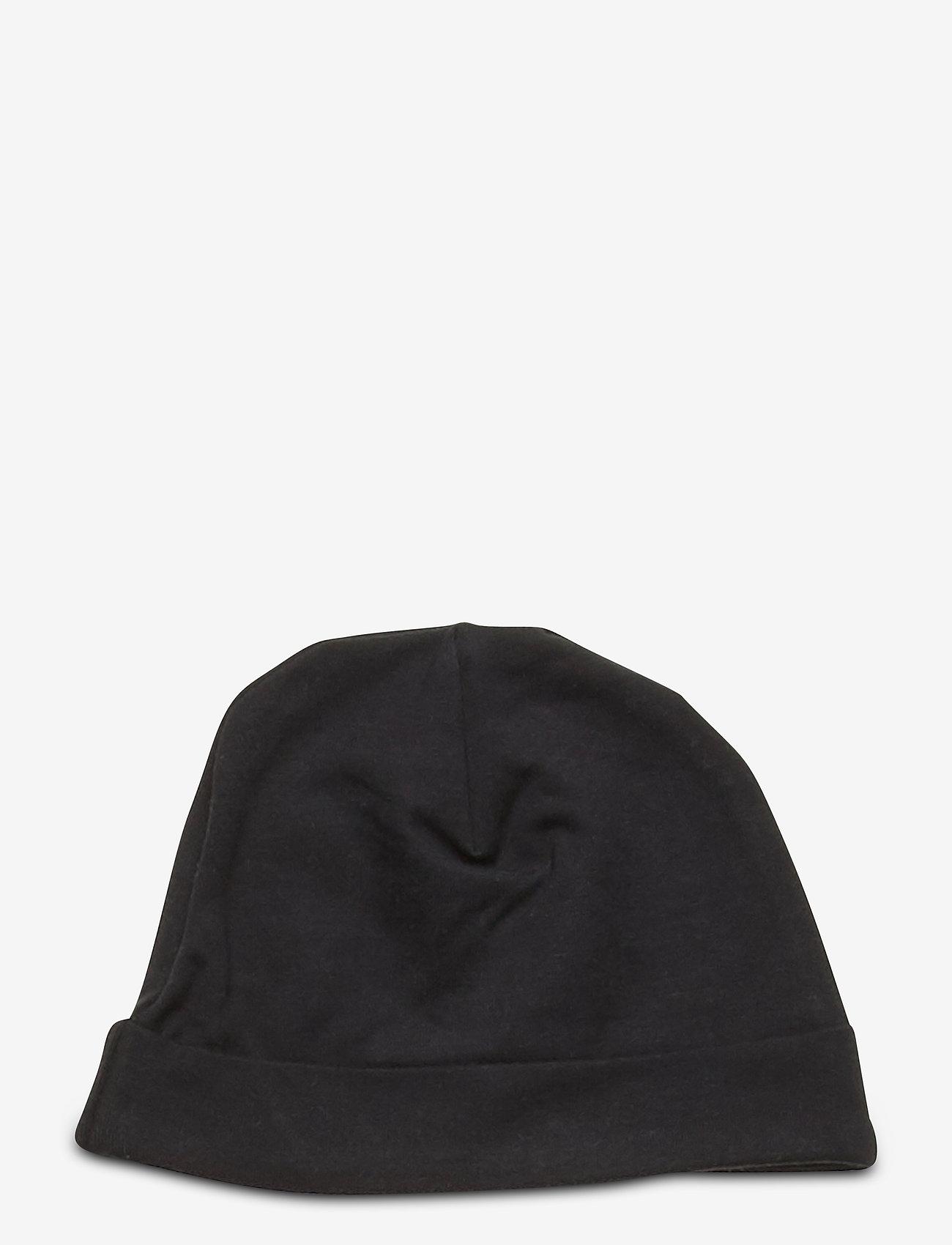 Mini Rodini - Basic baby beanie - hatte og handsker - black - 1