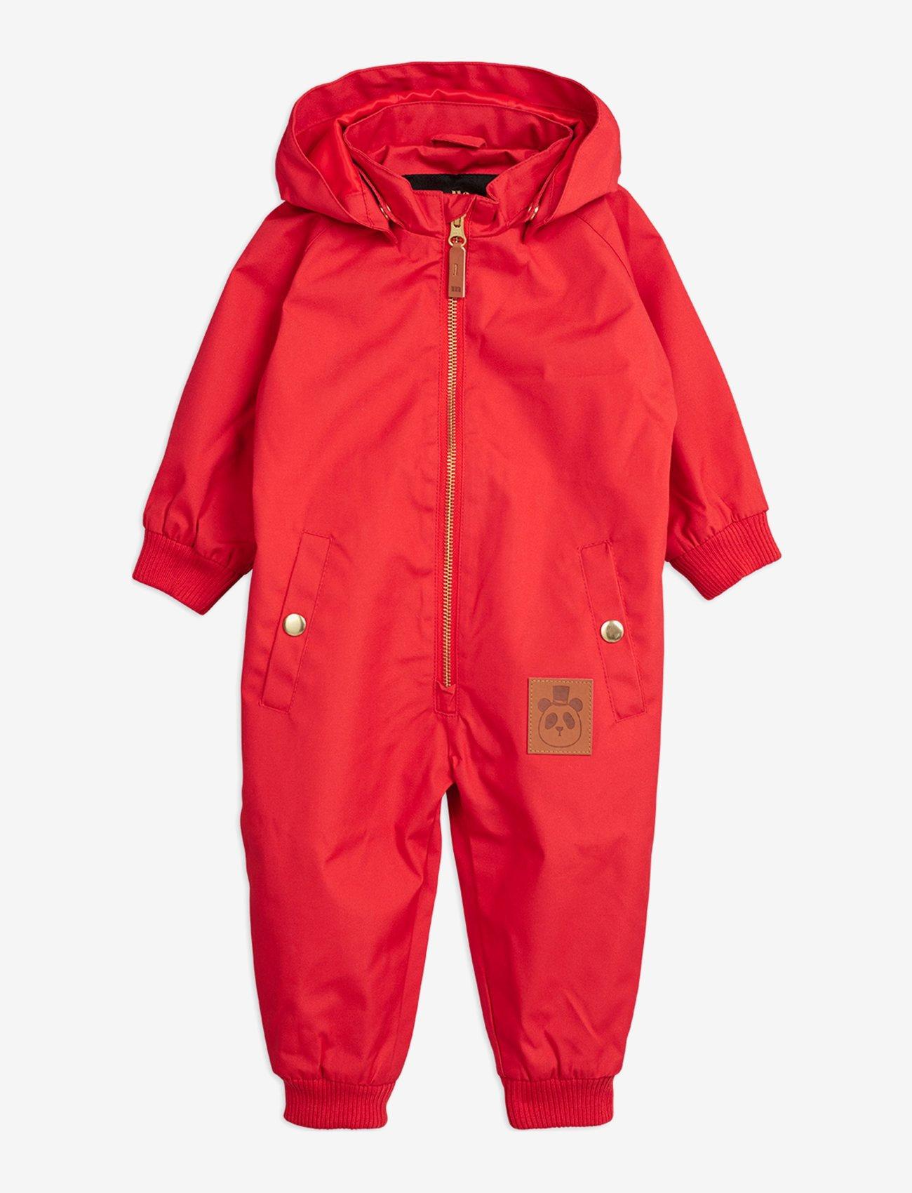 Mini Rodini - Pico baby overall - ensembles - red - 0