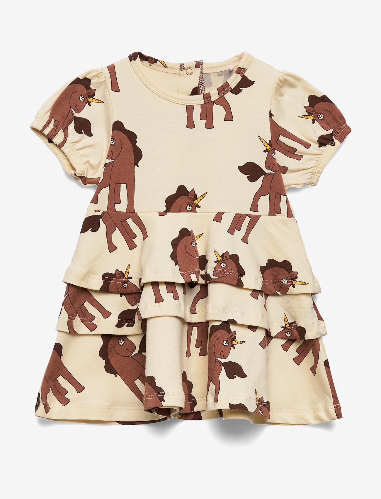 Mini Rodini - Unicorns aop ss dress - kjoler - offwhite - 0