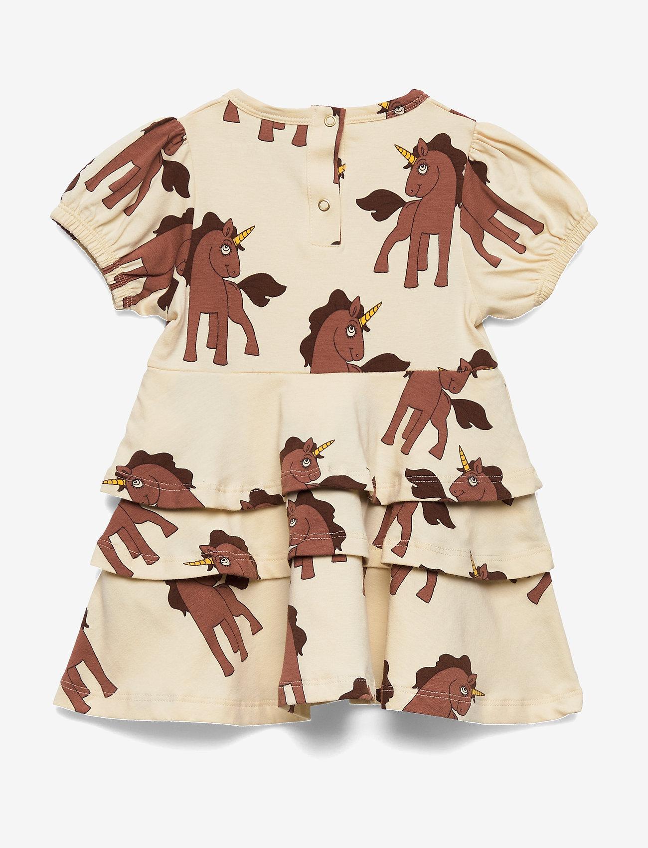 Mini Rodini - Unicorns aop ss dress - kjoler - offwhite - 1