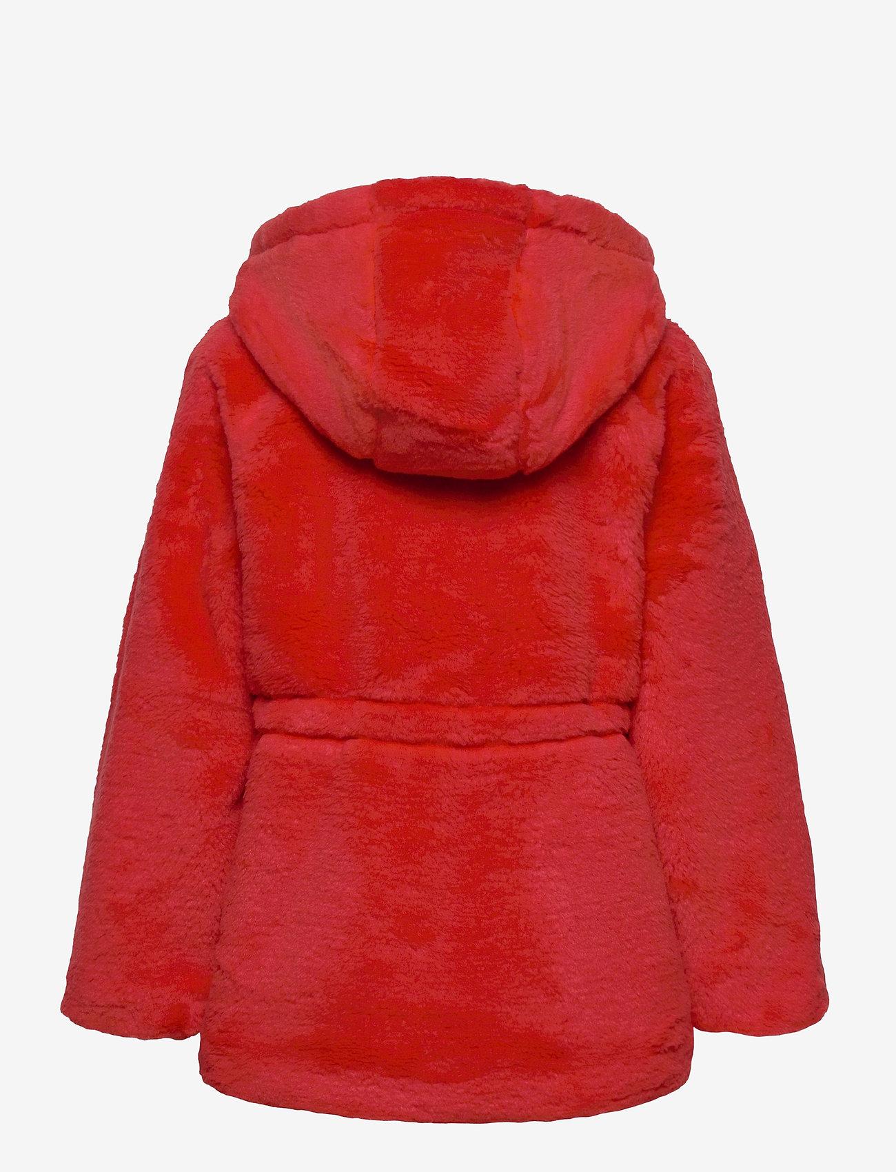 Mini Rodini - Faux fur parka - faux fur - red - 1