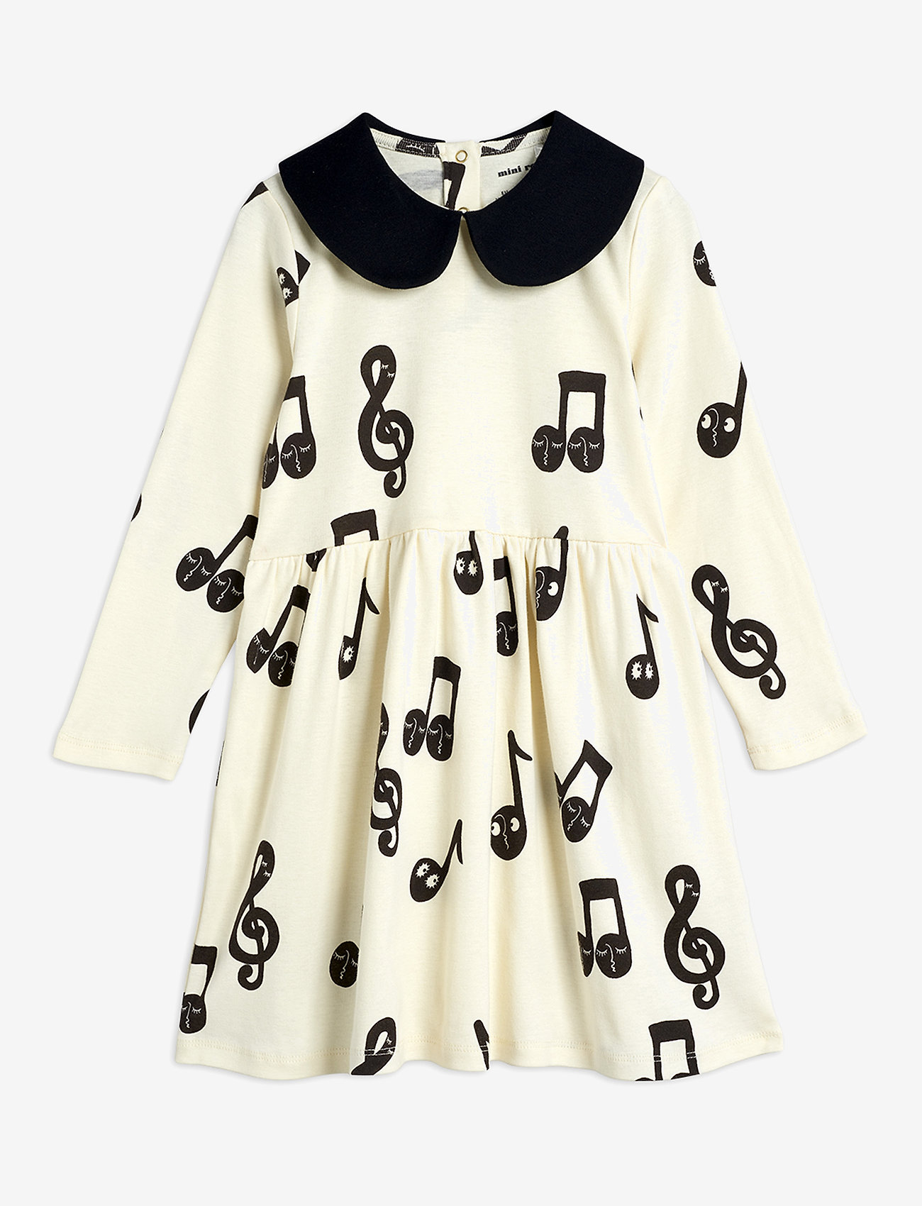 Mini Rodini - Notes aop ls dress - robes - offwhite - 1