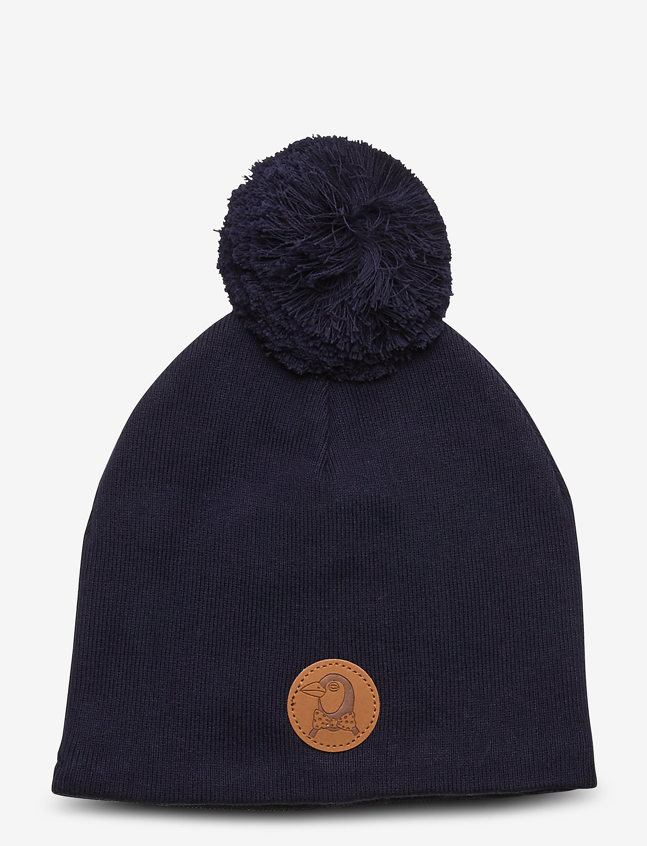 Mini Rodini - Penguin hat - beanie - navy - 0